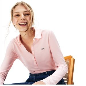 Women's Lacoste Long Sleeve Polo